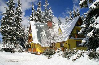 Dom w śniegu